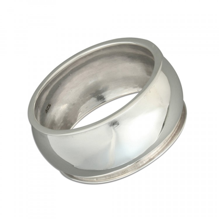 Plain round napkin ring