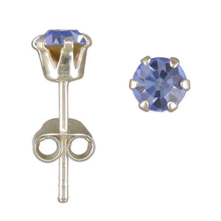 5mm Austrian crytal stud assorted colours