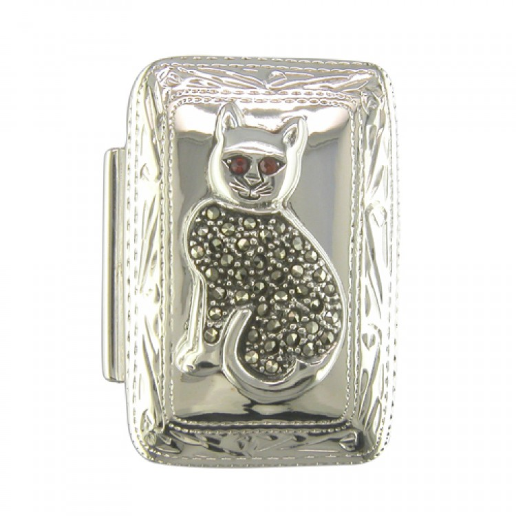Mercasite cat oblong box