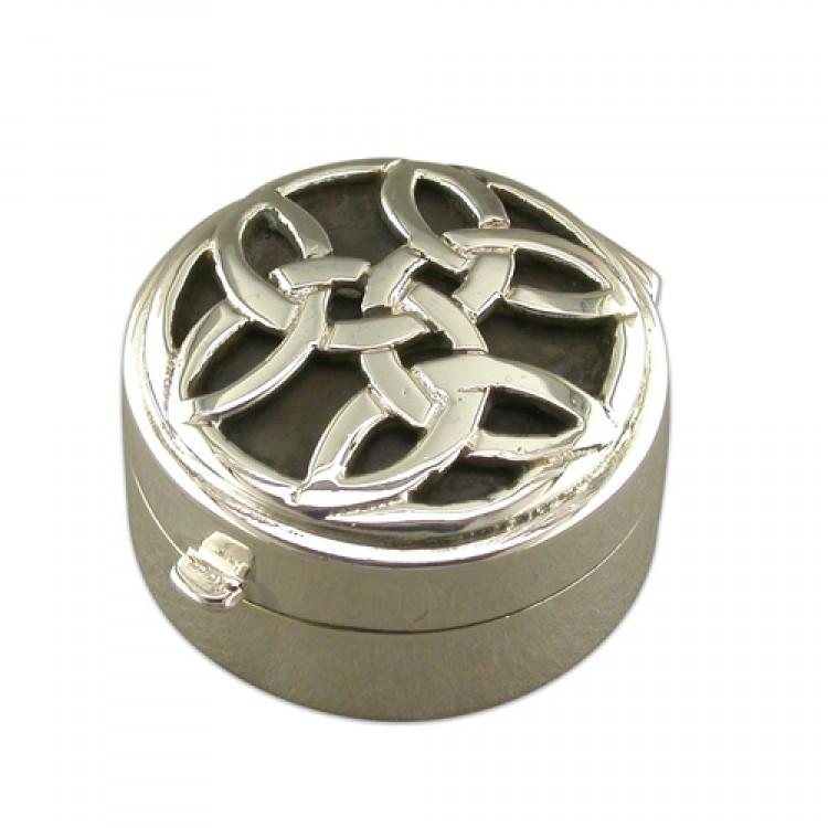 Celtic top round pill box