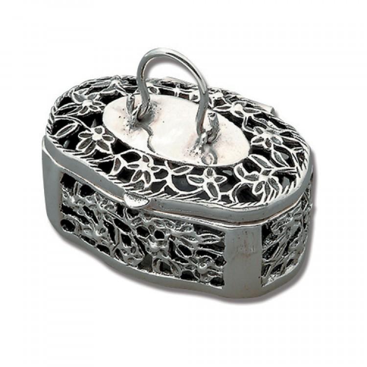 Filigree flower basket box