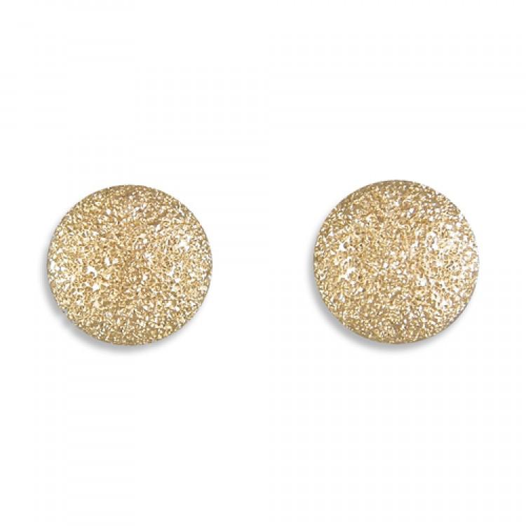 6mm diamond dust bead stud