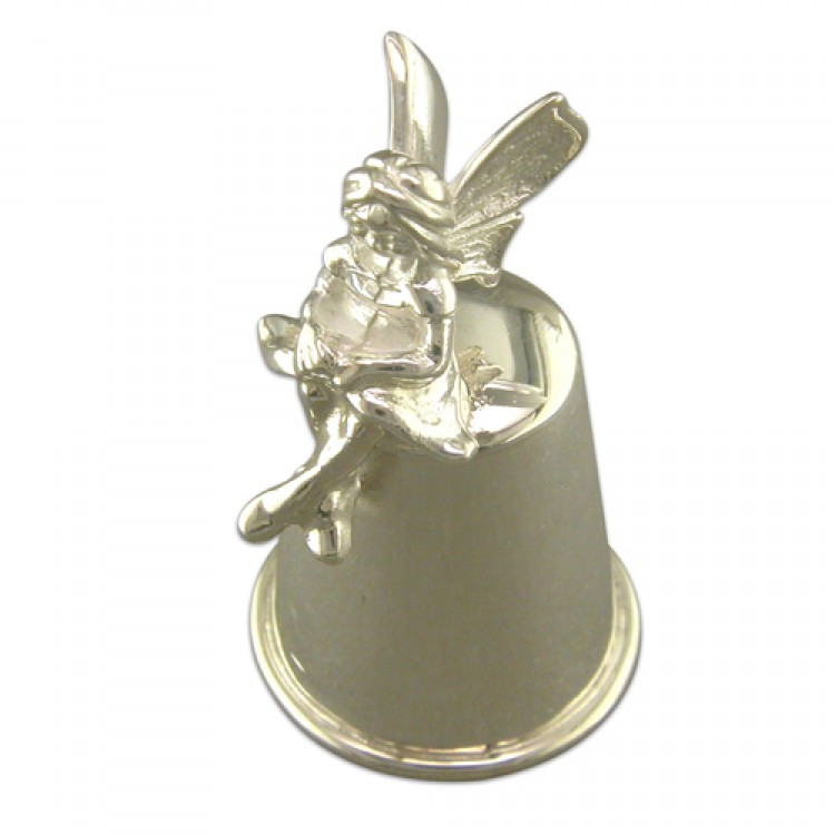 Thimble with sitting fairy