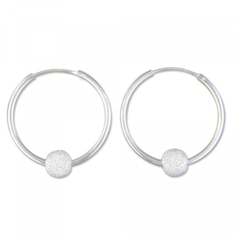 30mm hoop with diamond dust bead
