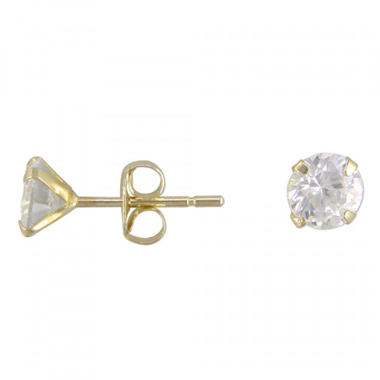 4mm cubic zirconia stud