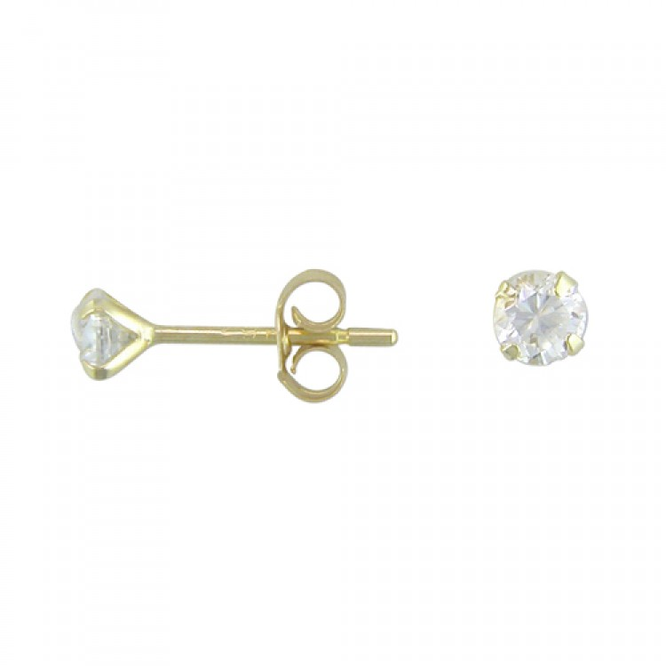 3mm cubic zirconia stud