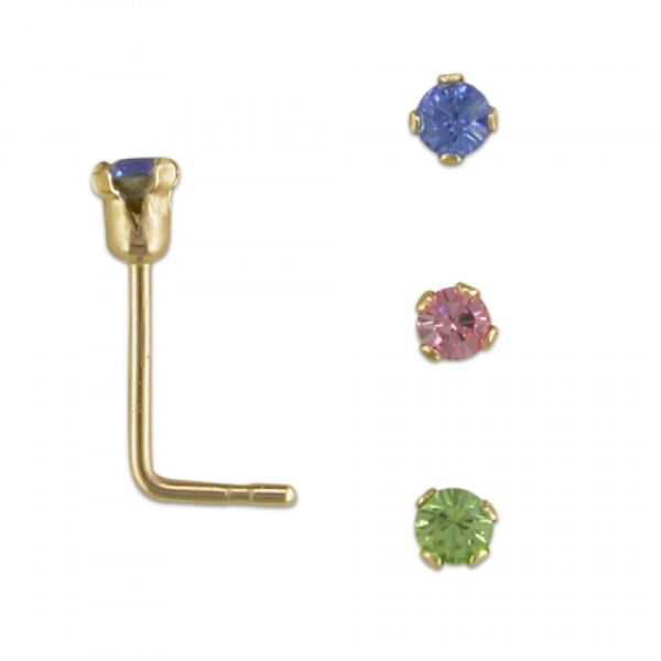 Set of 3 claw set coloured crystals