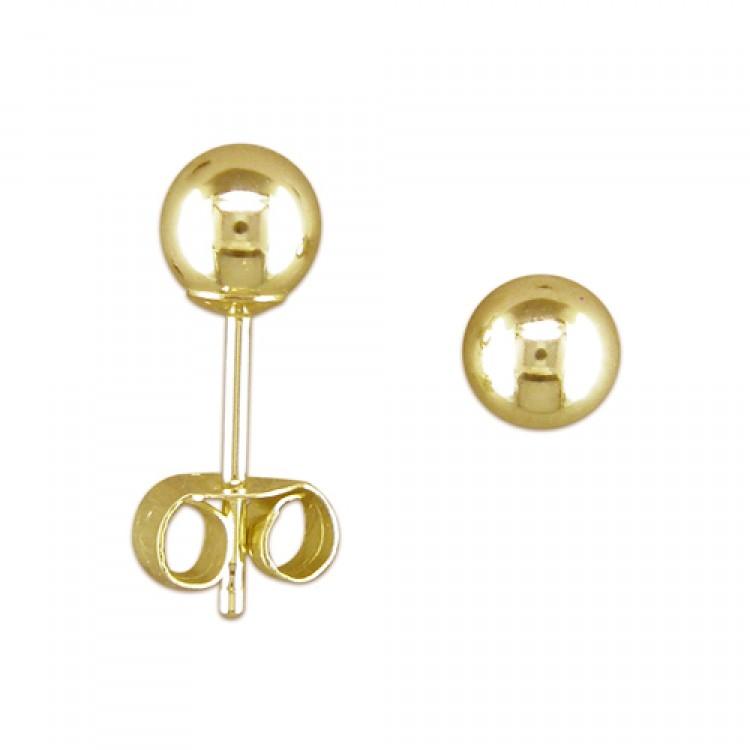 4mm white gold bead stud