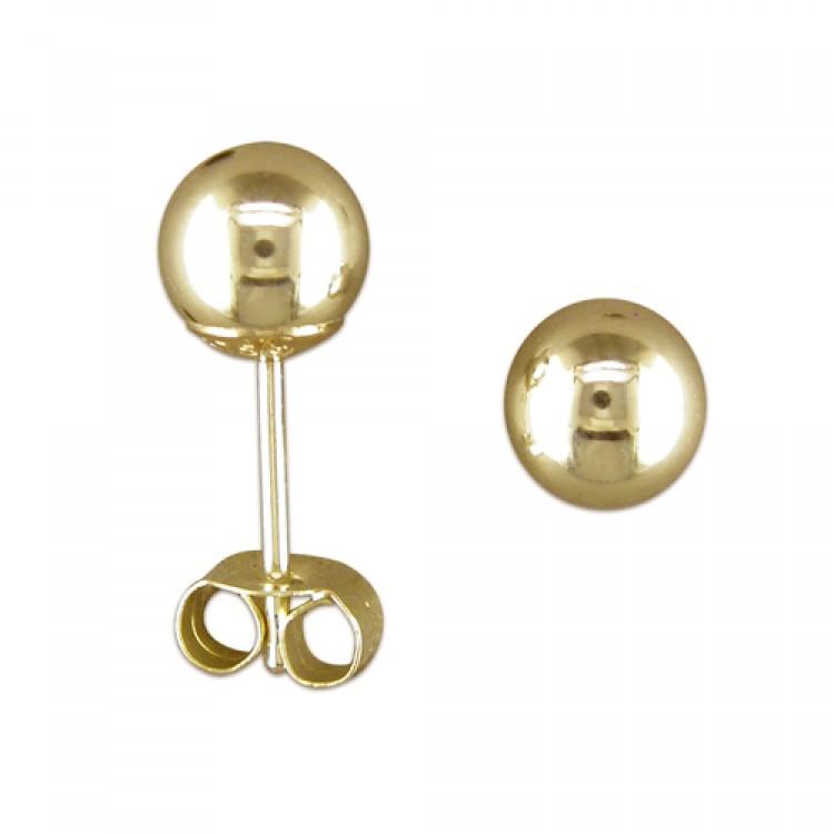5mm white gold bead stud