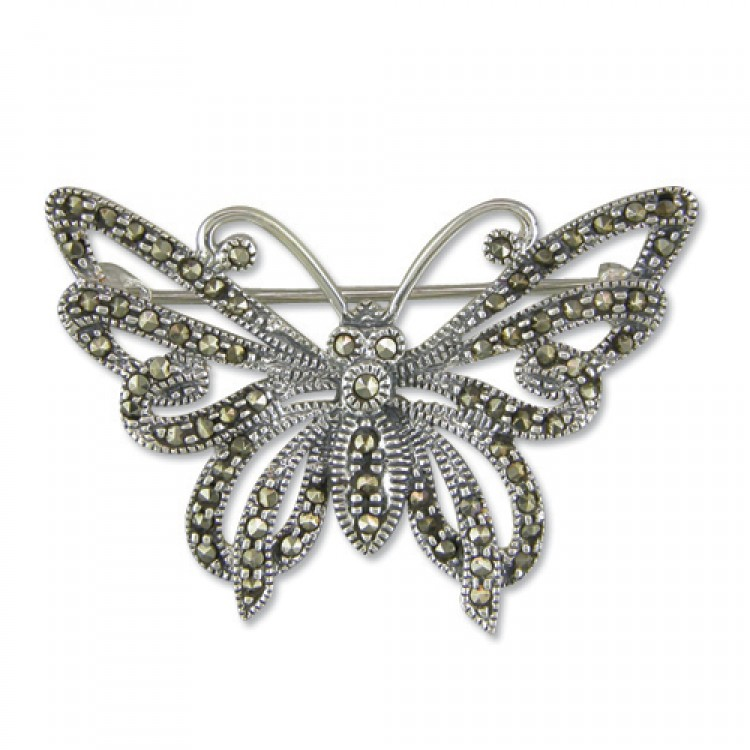 Mercasite cutout butterfly