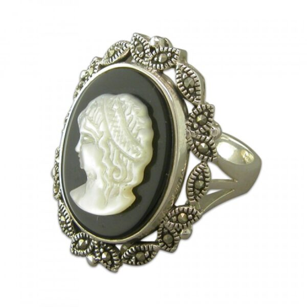 Cameo with mercasite