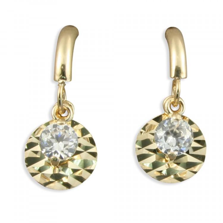 Cubic zirconia and diamond cut disc drop