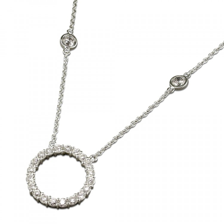 40-45cm/16-18in cubic zirconia ring and dots