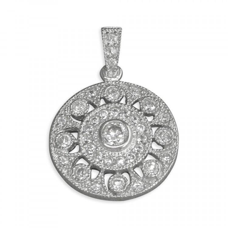 Cubic zirconia flower circle