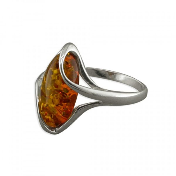 Cognac amber strapped oval