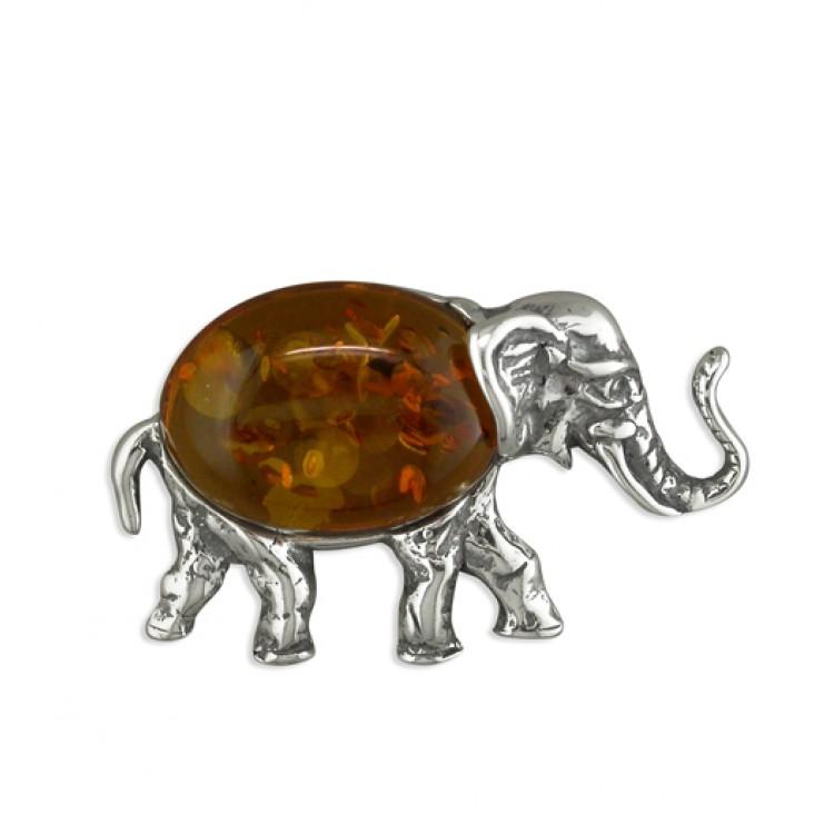 Cognac amber elephant