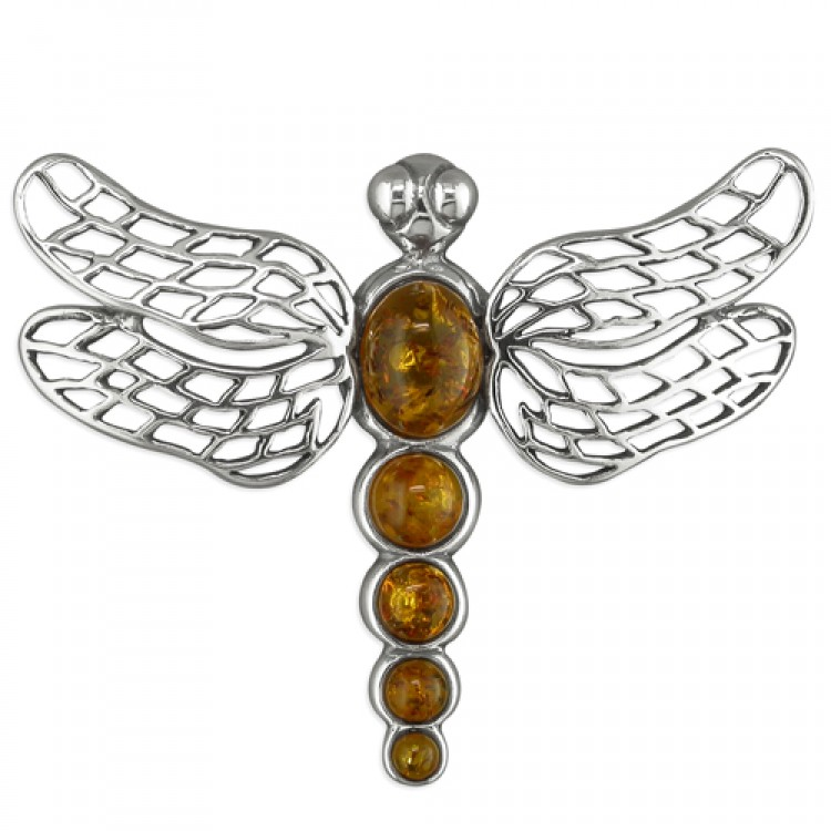 Cognac amber bodied dragonfly