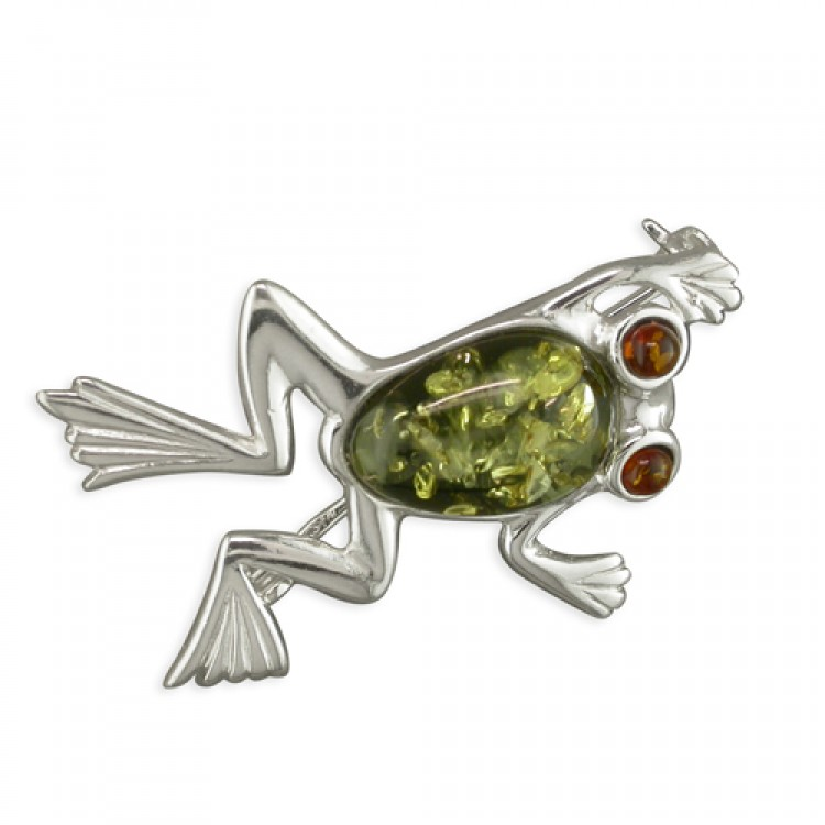 Green amber bodied frog with cognac amber eyes