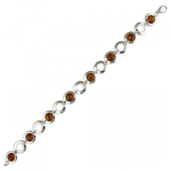 Cognac amber framed beads