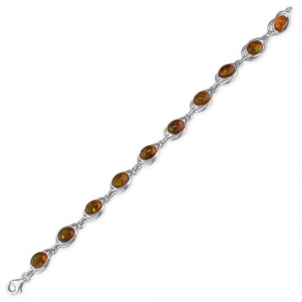 Cognac amber looped ovals