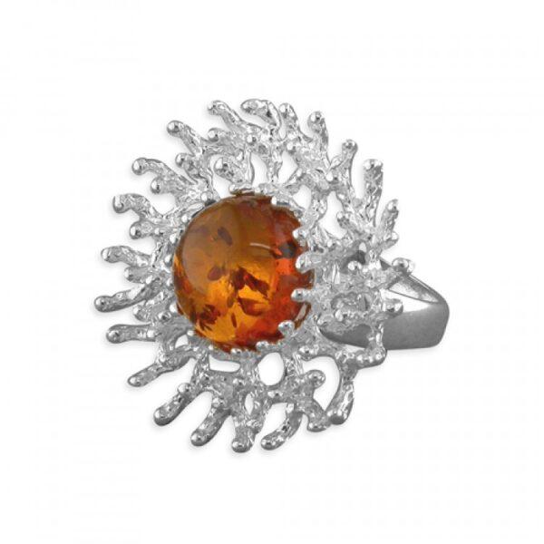 Cognac amber large snowflake
