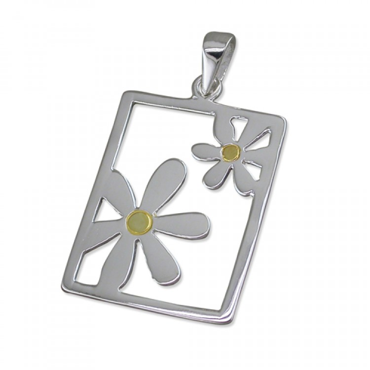 Daisies in oblong frame