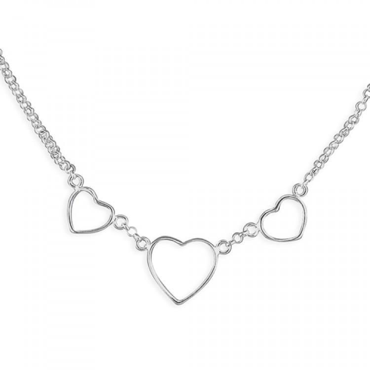 41cm/16in triple open heart