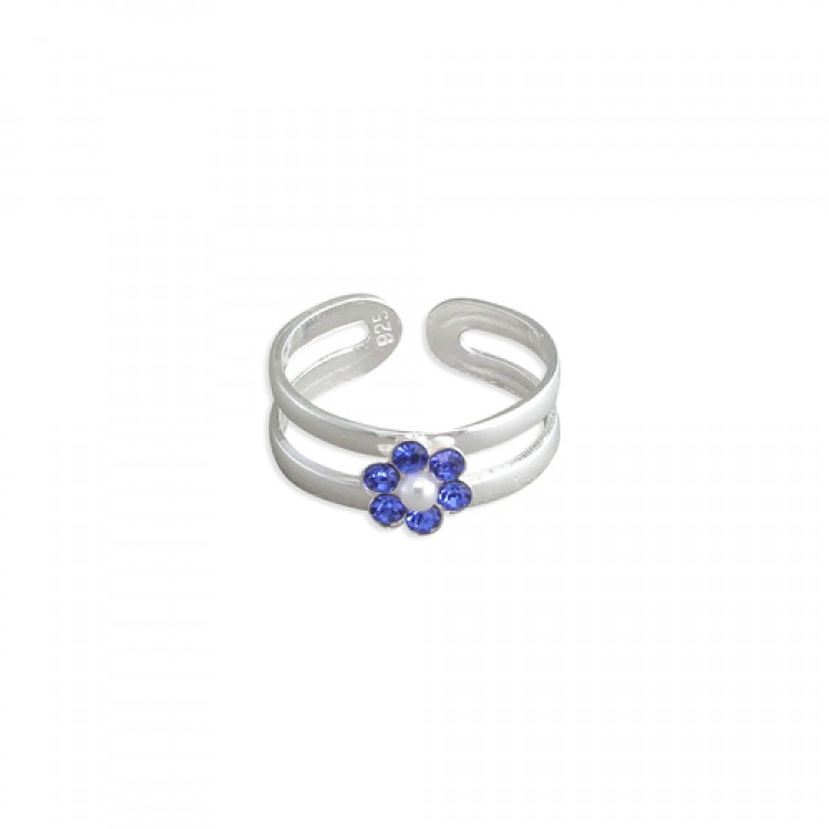 Crystal flower cluster in split band assorted colours