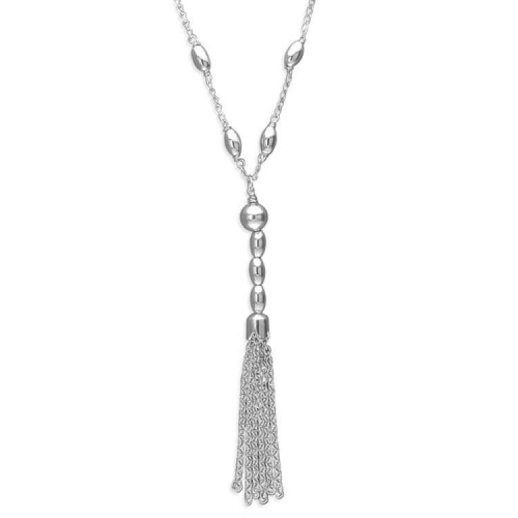 42cm/16.5in beads tassel drop