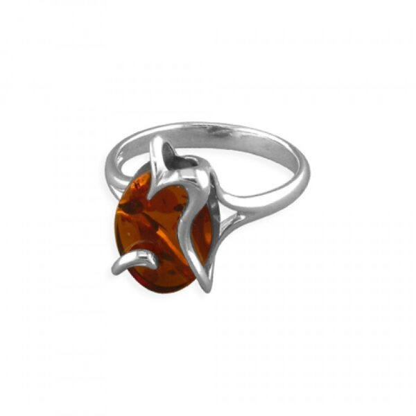 Cognac amber cradied oval