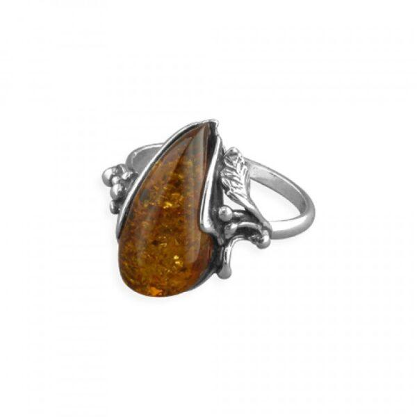 Cognac amber shape with leaf shoulder