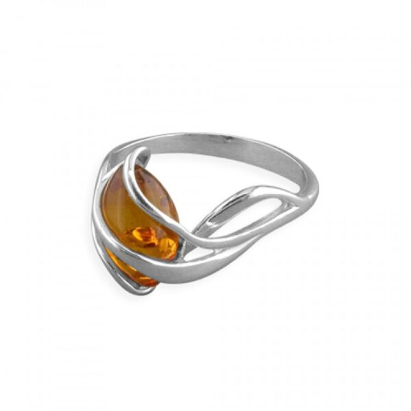 Cognac amber in swirl cage