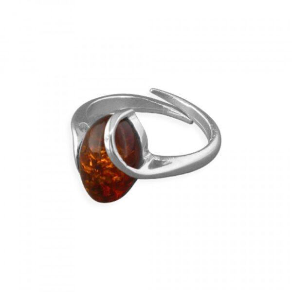 Cognac amber overlaid oval