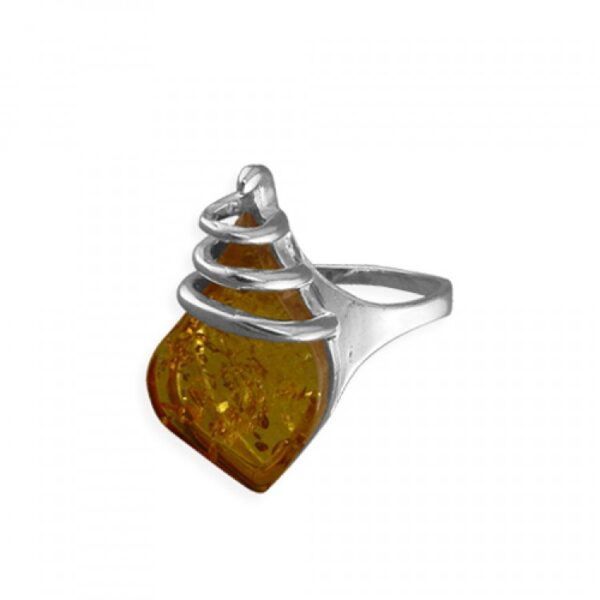 Cognac amber with coil top