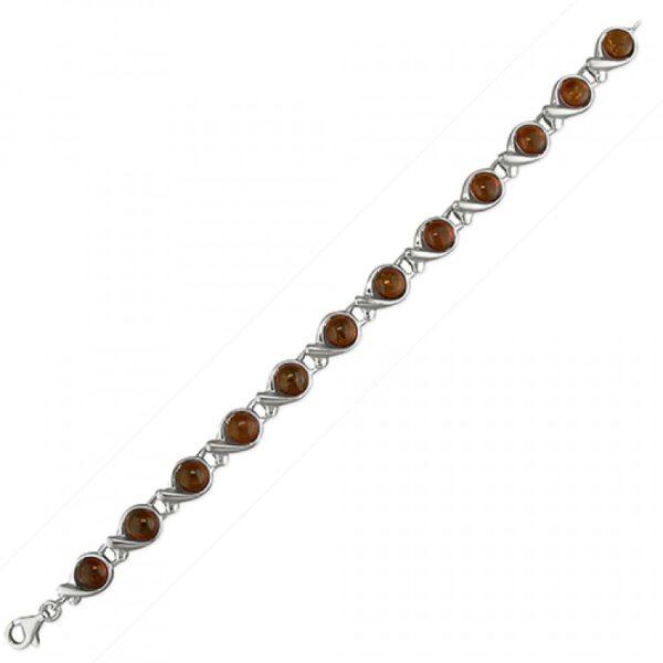 Cognac amber in cross-over loops