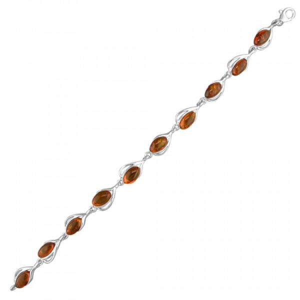 Cognac amber fancy ovals