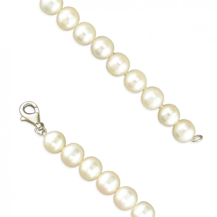 46cm/18in 7-8mm white pearls