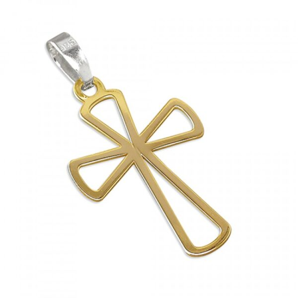 Gold plated flared outline