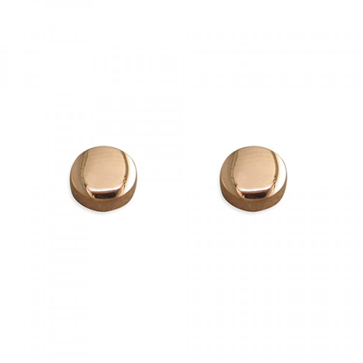 5mm rose gold plated button stud