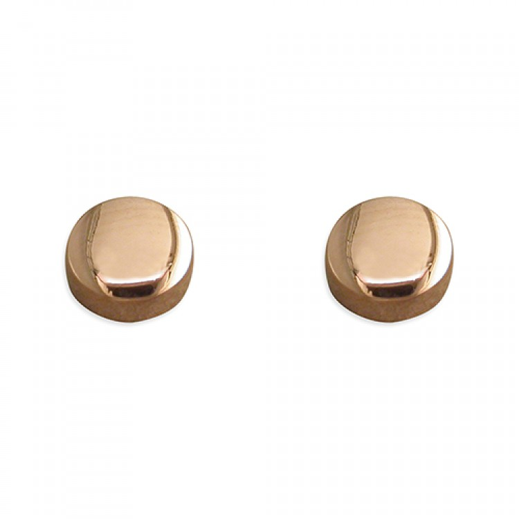 6mm rose gold plated button stud