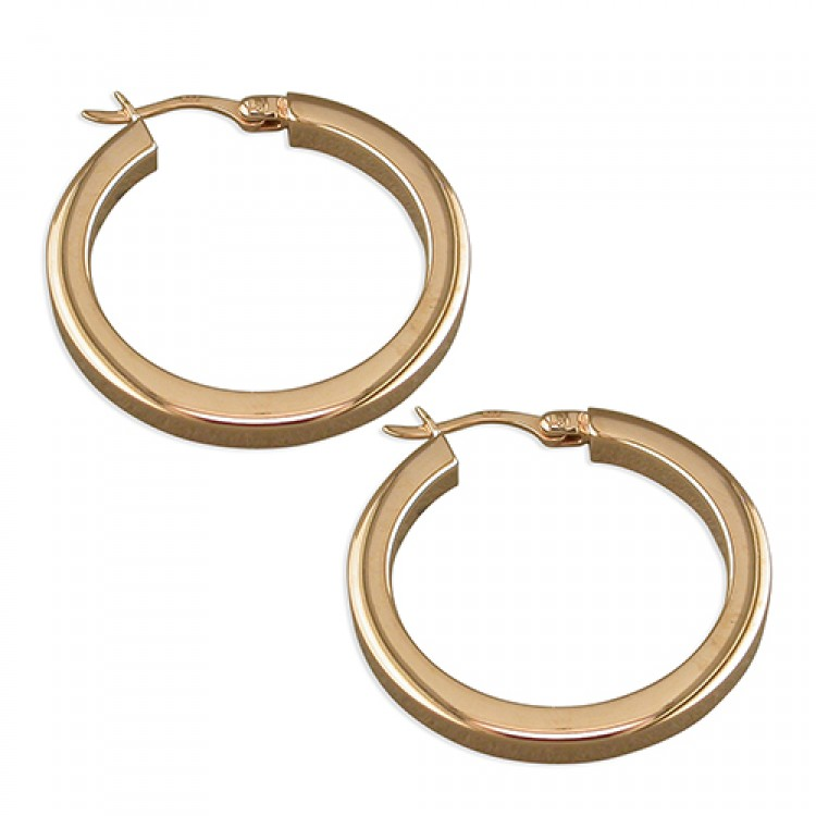 20mm rose gold plated creole hoop