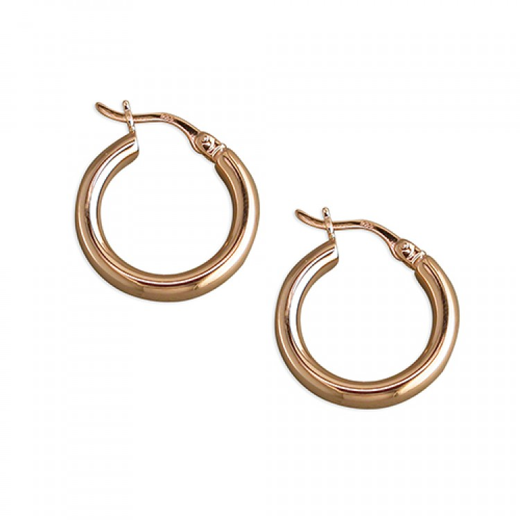 12mm rose gold plated creole hoop