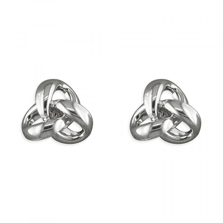 3-Loop open knot stud