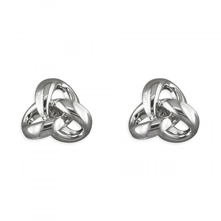 3-Loop open knot stud