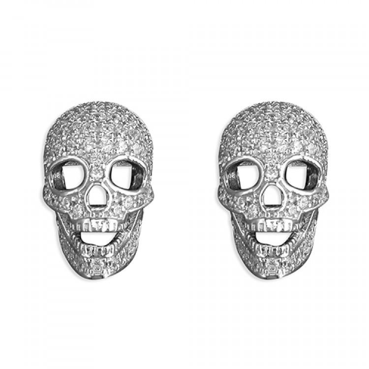 Cubic zirconia skull stud