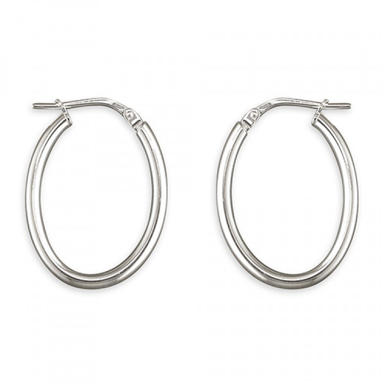 25mm oval hinged hoop