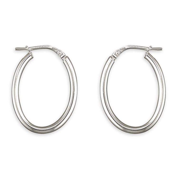 25mm oval hinged hoop