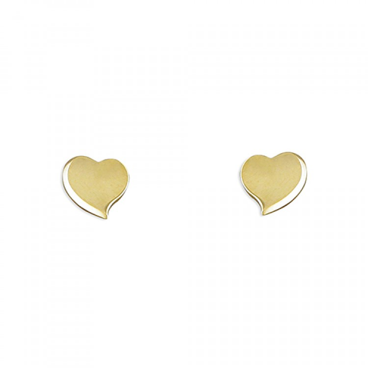 Small curved abstract heart stud