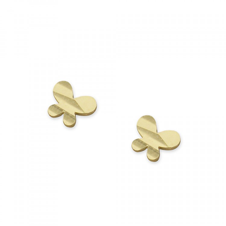 Small flat butterfly stud