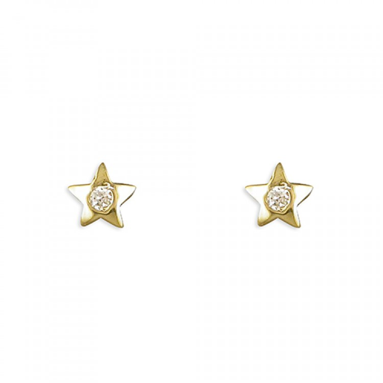 Small star with cubic zirconia stud
